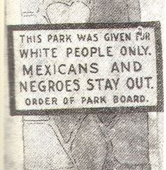 photos of houston,texas in the 1930s | Segregation Sign, Houston, Texas, 1900