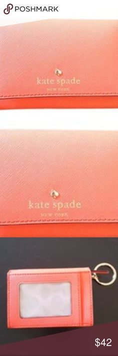 "Kate spade Kate Spade card case with the coin purs Multi- case ""DARLA"" where I can put a coin card, ID, paper money, the key which I folded in in a small body. The logo mark that I set at the center adds activeness. The popularity design that the size that is most suitable for the specifications that a necessary item is summarized in compactly when going out and a mini-bag and a clutch is attractive. How about for habitual use? It is most suitable for a gift. It is a part of the gold in calm…"
