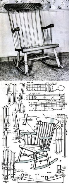 Boston Rocking Chair Plans - Furniture Plans and Projects | WoodArchivist.com