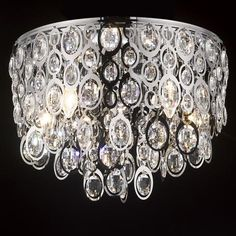 6-Light Chandelier Peacock Eye Crystal
