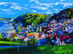 Mumbles Houses, limited edition print by Michelle Scragg