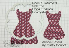 Altered dress 10 bloomers, ideas on altering current dress dies to have different variations with other punches, #scrapbook, #papercrafts