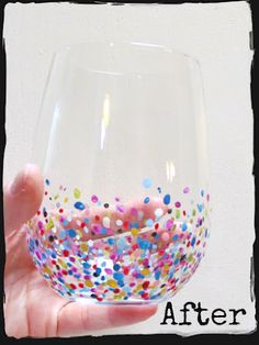 Hand-painted Confetti Glasses