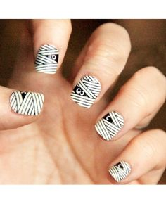 Mummy Nails...bit freaky but cool!