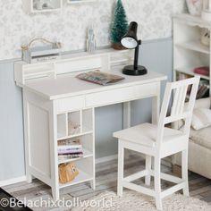 Doll desk 1/4 MSD minifee BJD miniature romatic shabby