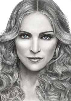 """( MUSIC ♪♫♪♪ 2016 ★ MADONNA """" Pop / dance / electronica / rock """" Madonna by akaLilith on """" ) ★ ♪♫♪♪ Madonna Louise Ciccone - Saturday, August 1958 - - Bay City, Michigan, USA. """" Madonna by akaLilith on """" Cool Pencil Drawings, Amazing Drawings, Realistic Drawings, Easy Drawings, Pencil Sketching, Amazing Art, Pencil Portrait, Female Portrait, Drawing People Faces"""