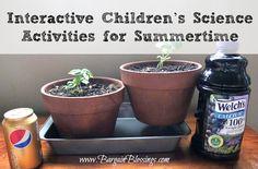 Interactive Children's Science Activities for Summertime #summer