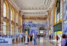 Os 7 painéis de azulejos mais bonitos de Portugal | VortexMag Places In Portugal, Portugal Travel, Portuguese Culture, Portuguese Tiles, Funchal, Porto City, Bento, Douro, European Destination