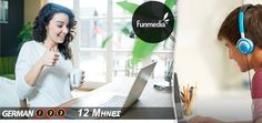 29€ για Online Courses Μαθήματα Γερμανικών με 12 Μήνες πρόσβαση στη Funmedia! Αρχική 237€ German, Deutsch, German Language