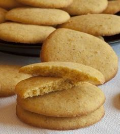 Cocina – Recetas y Consejos Cookie Recipes, Mexican Food Recipes, Dessert Recipes, Desserts, Gluten Free Cookies, Gluten Free Recipes, Mexican Cookies, Tapas, Decadent Cakes