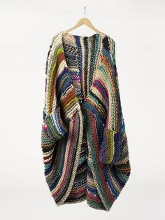 not crochet but a cocoon sweater and can be made as crochet - color inspiration