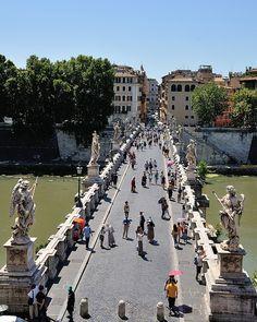 Ponte Sant'Angelo . Rome, Italy