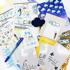 "Trendy stickers, monthly themed planner kits to ""beautiffy your planner"" Rainy Days, Kit, Stickers, Bullet Journal, Rain Days, Decals"