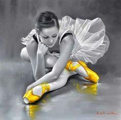 Color splash #ballerina #dancer #yellow