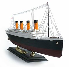 """Here are some more images of Academy's scale R. From Wikipedia"""" RMS Titanic was a British passenger liner. Model Ship Building, Boat Building Plans, Wooden Model Boats, Canadian Models, Automobile, Nautical Art, Rms Titanic, Small Boats, Model Ships"""