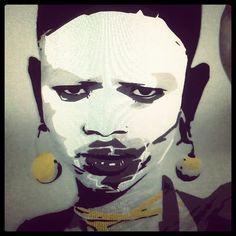 la mia africa  -  acrilico su tela