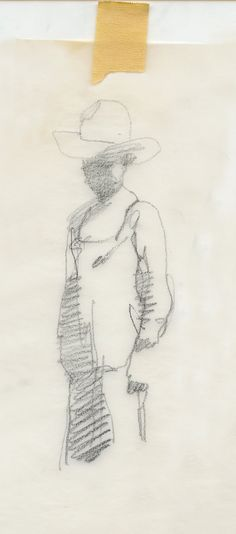 unpublished sketches by Bernie Fuchs.