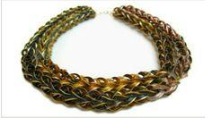Necklace made of Nespresso capsules