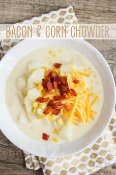 the baker upstairs: Bacon and Corn Chowder