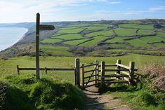 Het hoogste punt van het South West Coast Path; de Golden Cap. Wandelvakantie in Engeland