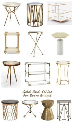 Love the different shapes of these end tables