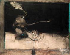 Paul Wunderlich, Leda und der Schwan, 1963, oil and pencil on canvas