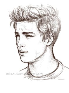 kinda stress relieve sketch before bed (: adorable baby Logan Lerman