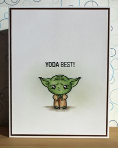 There's a Card for That: Yoda Best! Funny Thank You Cards, Teacher Thank You Cards, Funny Cards, Cute Cards, Thank You For, Thank You Ideas, Thank You Puns, Best Thank You Gifts, Birthday Cards For Friends