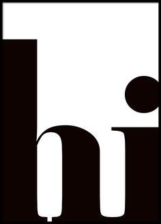 Cuadro con texto blanco y negro con letras gráficas.