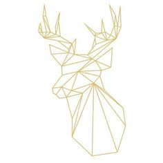 Geometric Deer, Gold Deer, Geometric Animal, Origami Print, Low Poly,... ❤ liked on Polyvore featuring home, home decor, wall art, geometric home decor, gold wall art, printable wall art, geometric wall art and gold home decor