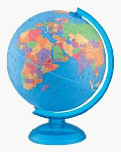 Found this great globe at Barnes and Noble. It's also available here at Amazon. It was $10.00 less at the bookstore. But it's not always available there.