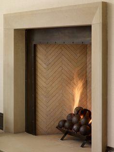 The Design Atelier - metal fireplace surround