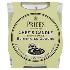 4x Price/'s Anti-Tobacco Candle in Jar Eliminates Tobacco and Smoking Odour