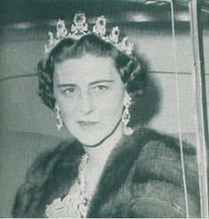 Princess Marina in the sapphire parure