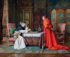 Paul Schaan (1857-1924) — The chess game (1500x1228)