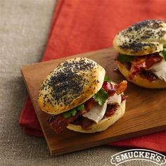 Bacon-Chicken Sliders with Raspberry-Onion Spread from Smucker's®