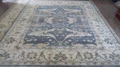 Fine woollen oushak rug