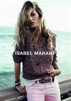 gisele for isabel marant ad campaign s/s 2011
