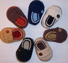 Baby Boy Crocheted Loafers.