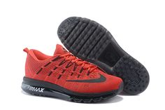 finest selection a03f2 e1995 2016 Men s Nike Flyknit Air Max Running Shoes red black