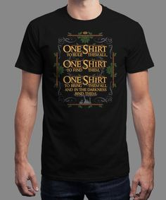 """""""One Shirt"""" is today's £9/€11/$12 tee for 24 hours only on www.Qwertee.com Pin this for a chance to win a FREE TEE this weekend. Follow us on pinterest.com/qwertee for a second! Thanks:)"""