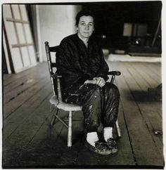 This photo of Agnes Martin was taken by Diane Arbus in 1966. It shows Agnes in her New York studio on Coenties Slip.