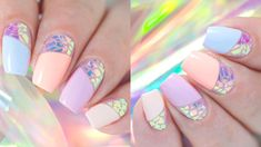 Broken Glass Nail Art with Iridescent Foil | VIDEO Tutorial
