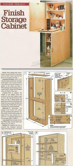 Finish Storage Cabinet Plan - Workshop Solutions Projects, Tips and Tricks   WoodArchivist.com