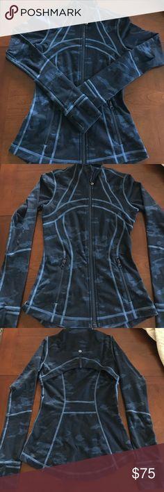 Lululemon jacket Great condition!! Casual camo design form fitting jacket! lululemon athletica Jackets & Coats