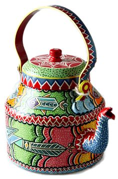 Hand Painted Aluminium Kettle