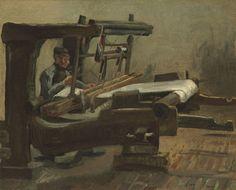 Vincent van Gogh (1853–1890)  Weaver Facing Right, 1884  Olio su tela montata su tavola, 36,6 x 45 cm Sotheby's – Coll.privata