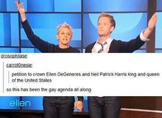 Ellen & Neil Patrick Harris for king and queen! :-D