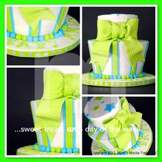 Baby shower cake welcoming baby amir bottom tier is in our black tie