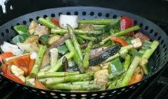 Healthy Balsamic & Rosemary Grilled Vegetables   Once a Month Meals   OAMC   Freezer Meals   Freezer Cooking   Whole 30 Compliant Recipes